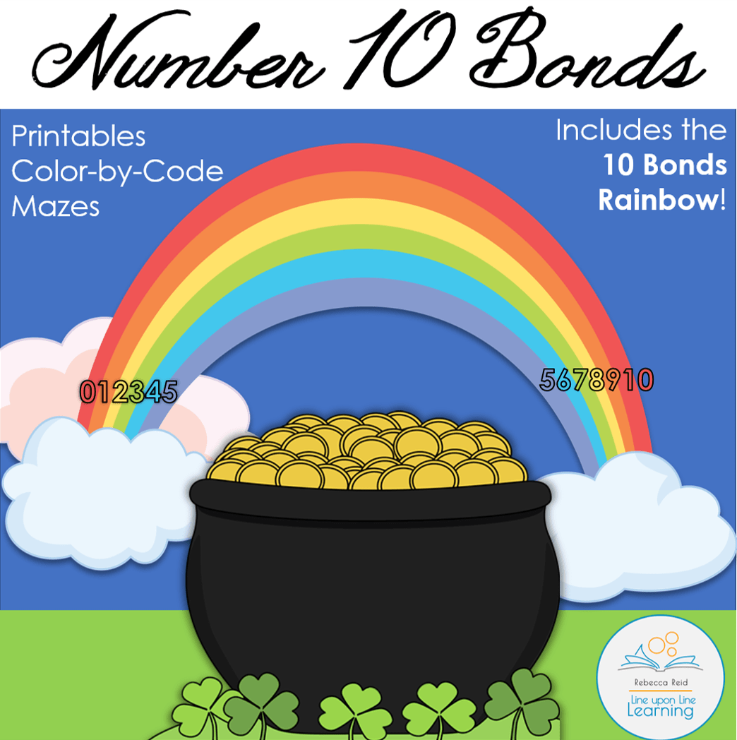 Number 10 Bonds Rainbow Line Upon Line Learning