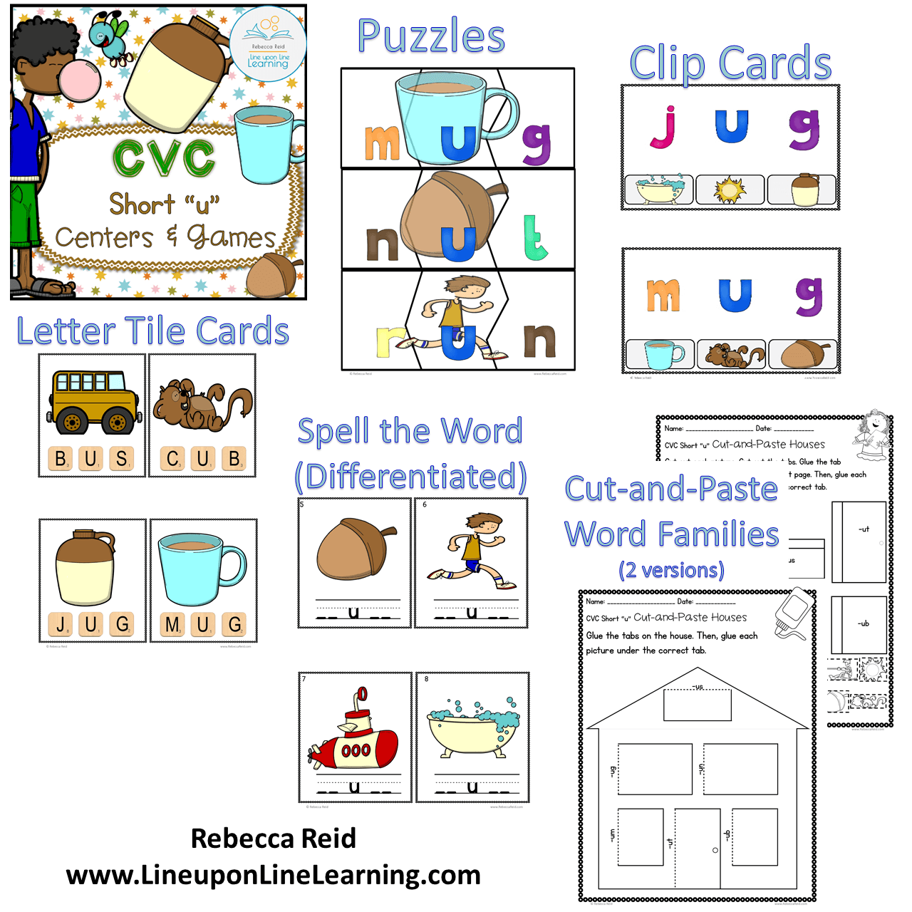Cvc Short U Centers And Games Line Upon Line Learning