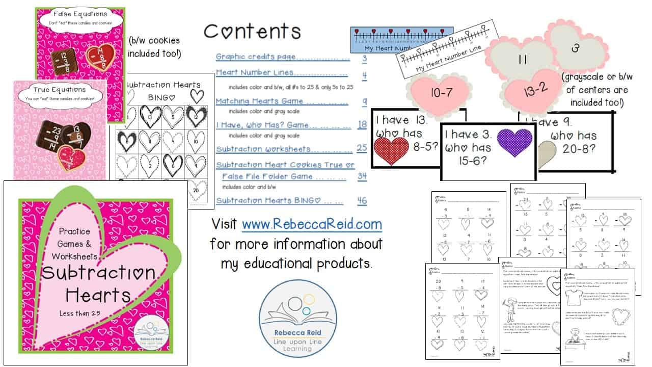 subtraction hearts demo