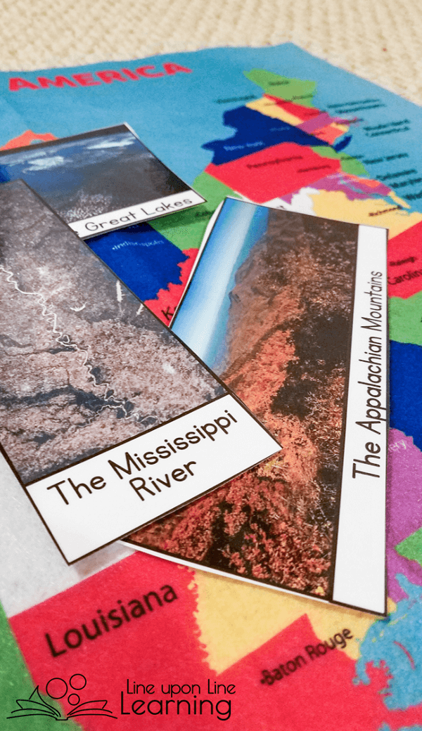 Put photos of U.S. land forms on a map of the country to learn about U.S. geography.