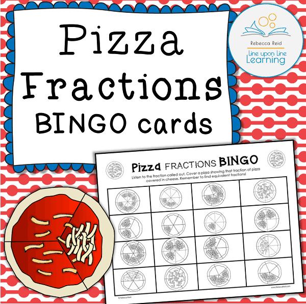 pizza fractions BINGO COVER