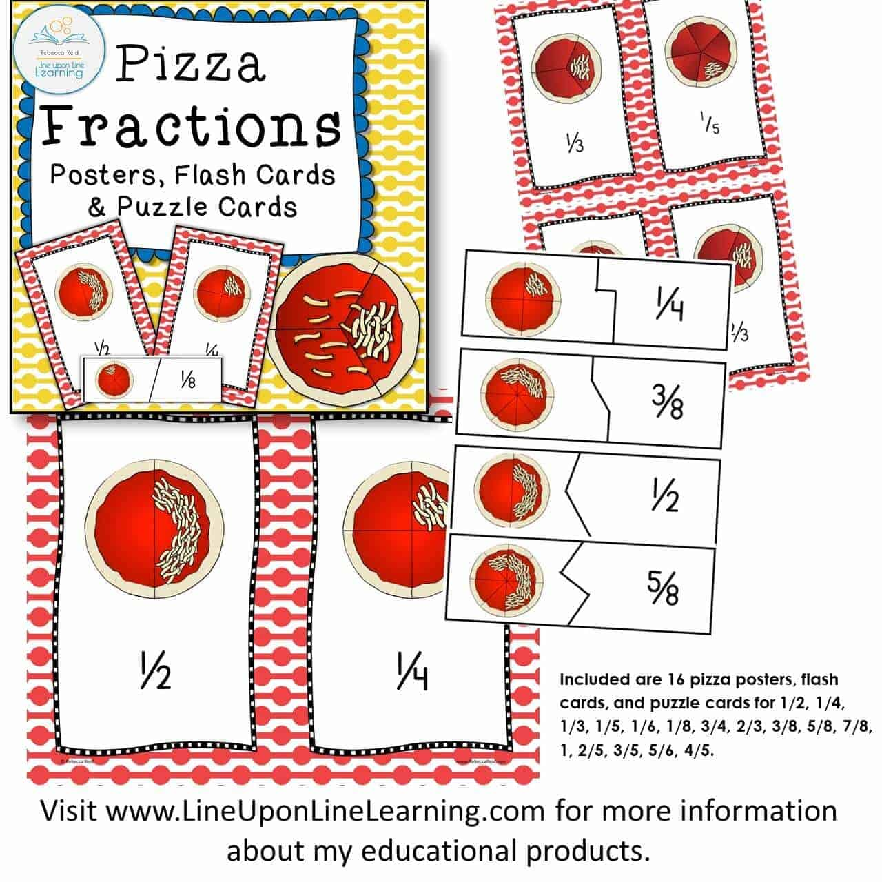 pizza fractions poster puzzle DEMO