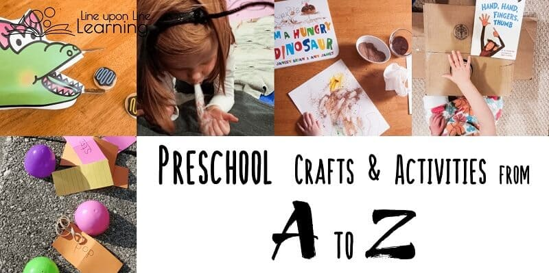 We love to learn and play through the alphabet preschool activities. Here they are from A to Z