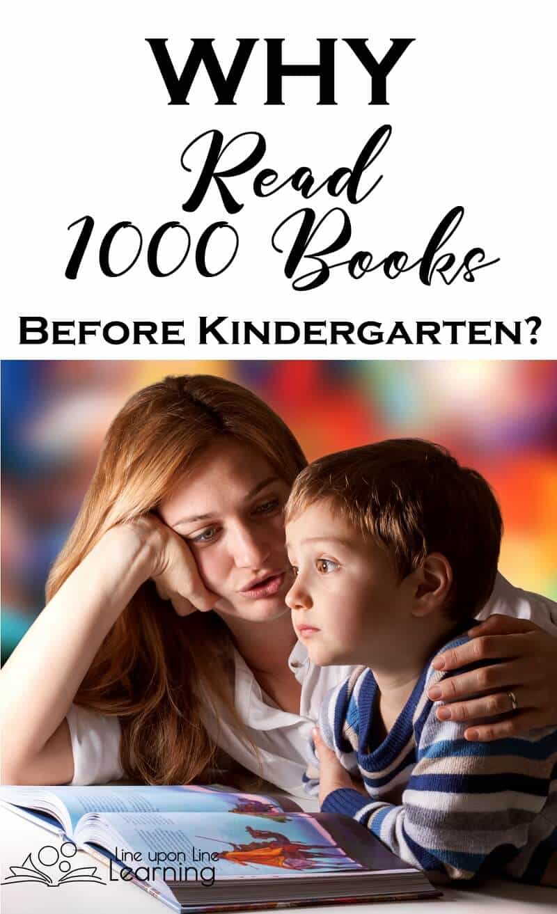 Reading 1000 books before kindergarten gives your child a great head start towards literacy, an amazing advantage in vocabulary exposure, and it's a lot of fun!