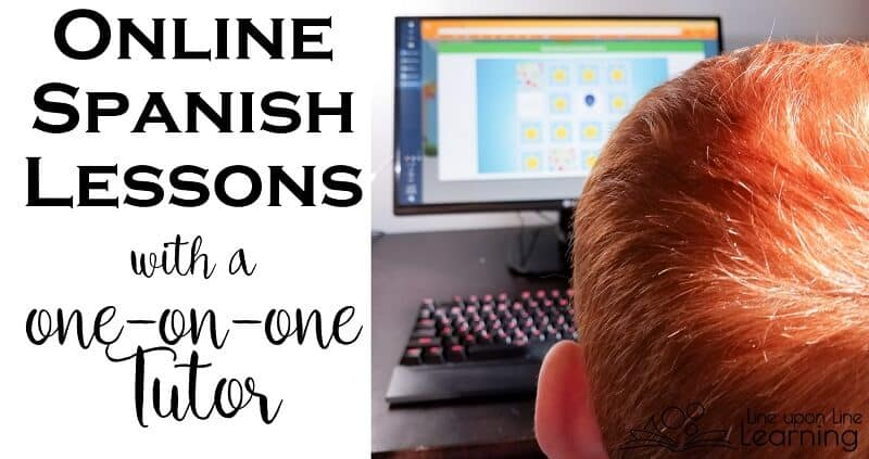 Taking Spanish lessons online with a one-on-one tutor is a great match for homeschooling families.