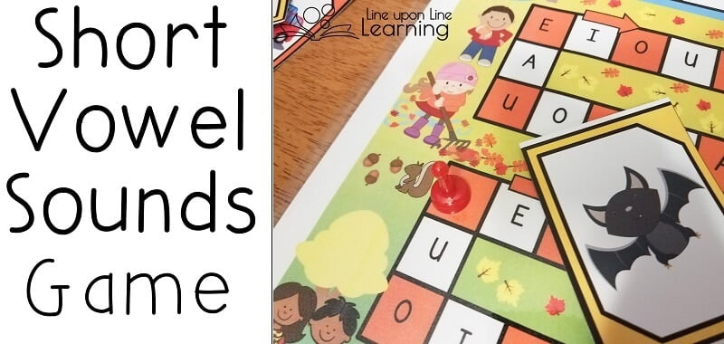 Practice recognizing short vowel sounds with an autumn-themed game.