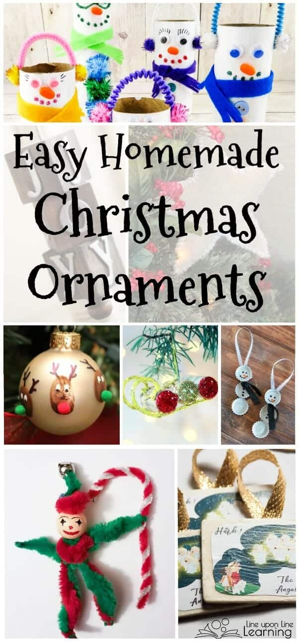 These easy homemade ornaments require a few more fine motor skills to put together, but they still would be fun and fairly simple for kids to work on. Each of these easy homemade Christmas ornaments produce an adorable result.