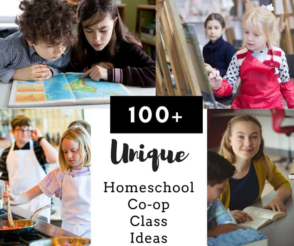 Homeschool co-op classes can be educational or fun or both! Think outside of the box and find extra or curricula classes you'd like your homeschoolers to take with a class.