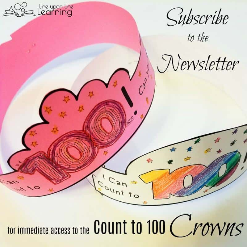 Subscribe to the Line upon Line Learning Newsletter to get instant access to the Count to 100 Crowns.