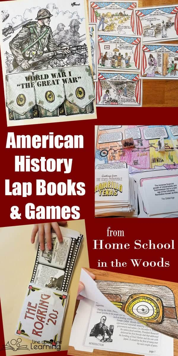 By coloring and organizing lap books and notebooks and by playing hands-on learning games, my kids got a great introduction to specific areas of America history. Just what we needed to supplement our learning and make history fun!