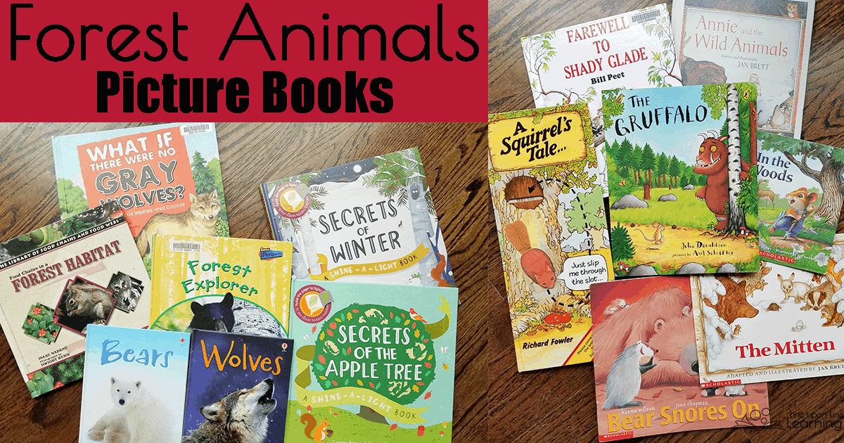 We learned about forest animals through fiction and nonfiction picture books.
