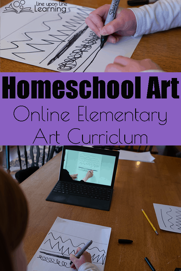 Online art instruction was surprisingly easy to follow. We could stop and go back whenever we wanted to, and now we can redo the art lesson as well!