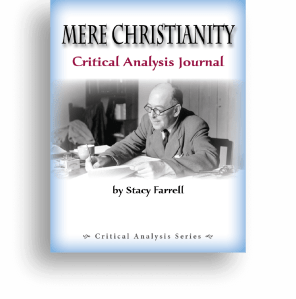 Mere Christianity Critical Analysis Journal