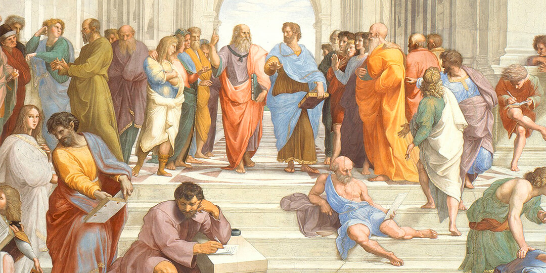 School of Athens from the cover of Philosophy Adventure