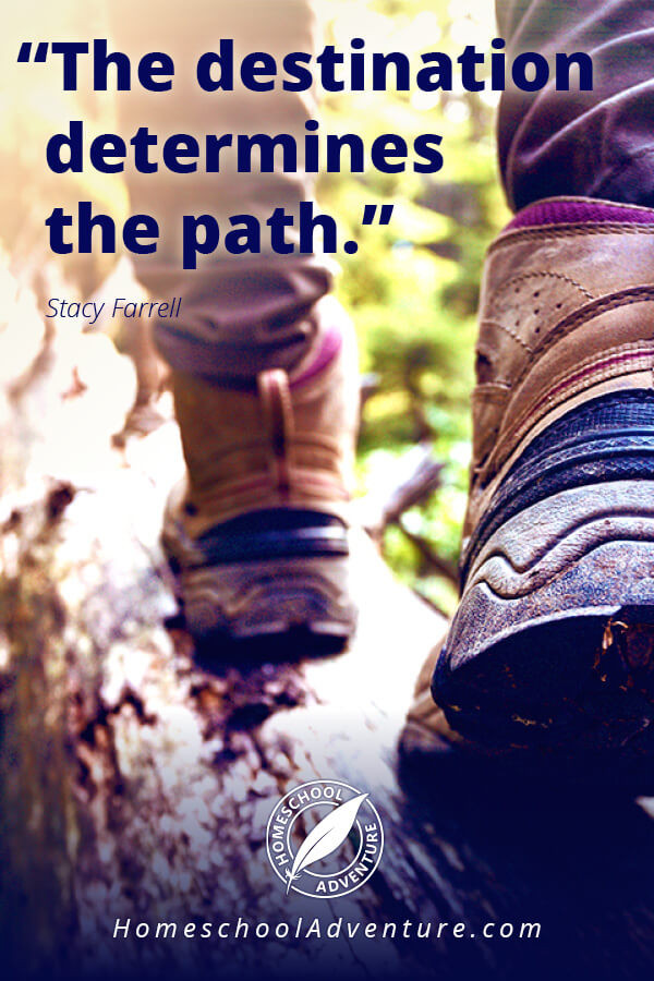 The destination determines the path.