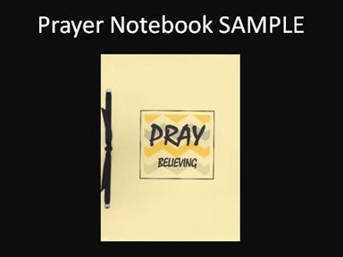 Prayer notebook sample