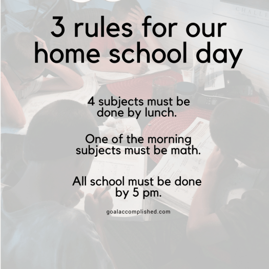 Homeschool scheduling: 3 rules for our home school day