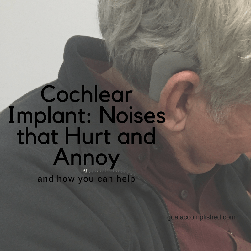 Profile of man wearing cochlear implant