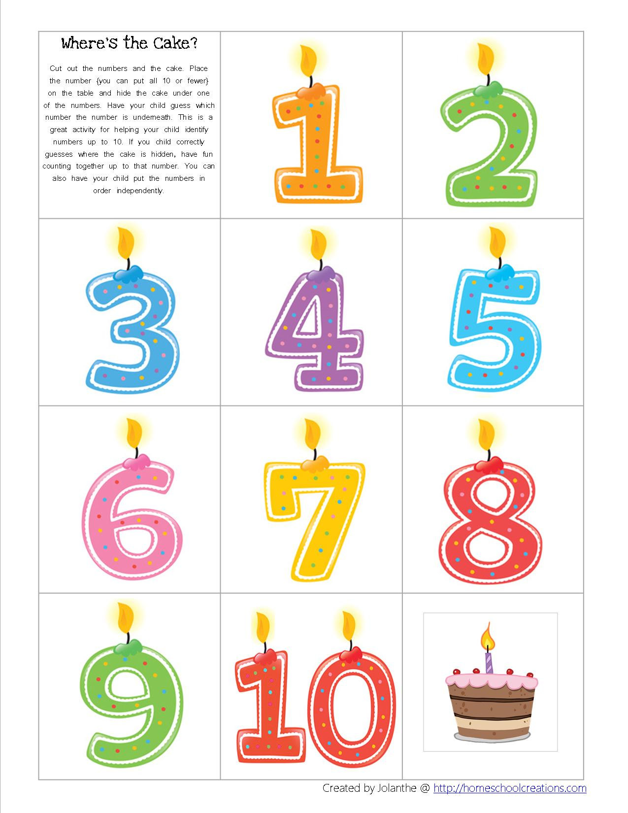 Birthday Preschool Pack