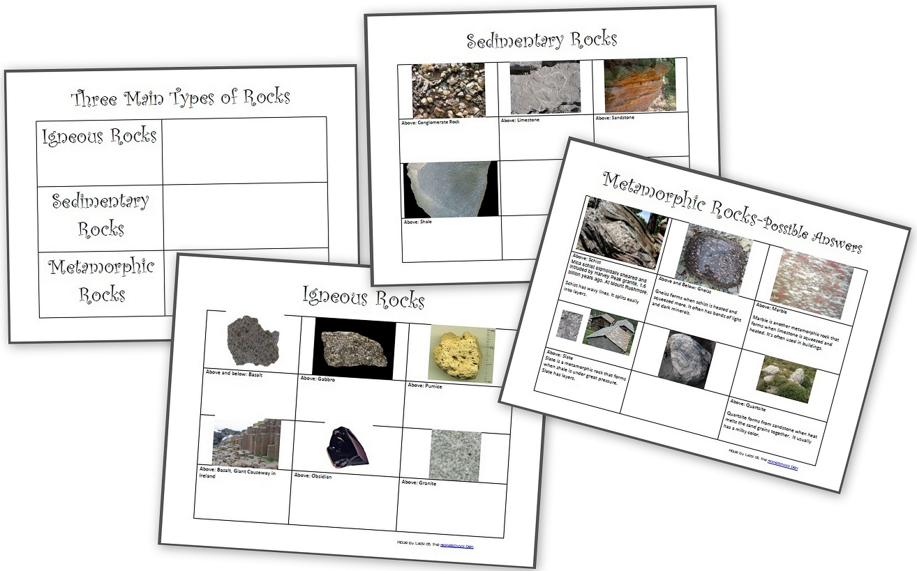 The Three Types Of Rocks Our Activities And A Free Worksheet Packet About Igneous Sedimentary