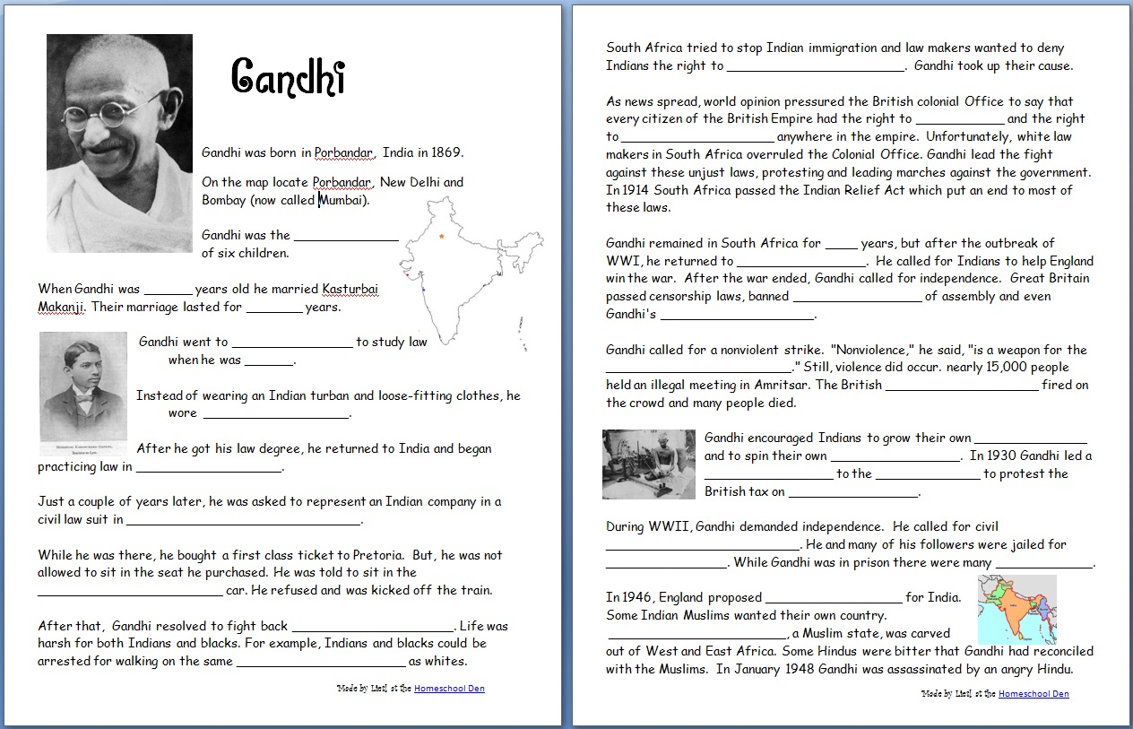 My Country Report Worksheet