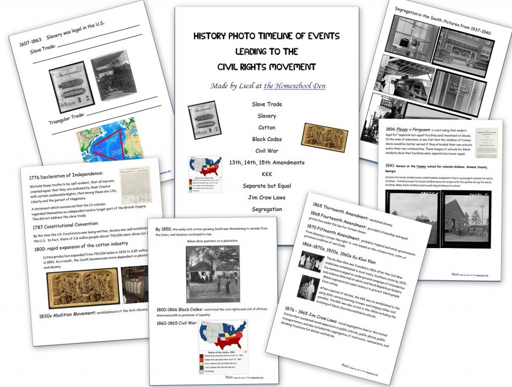 Free Mlk Day Civil Rights Movement Materials