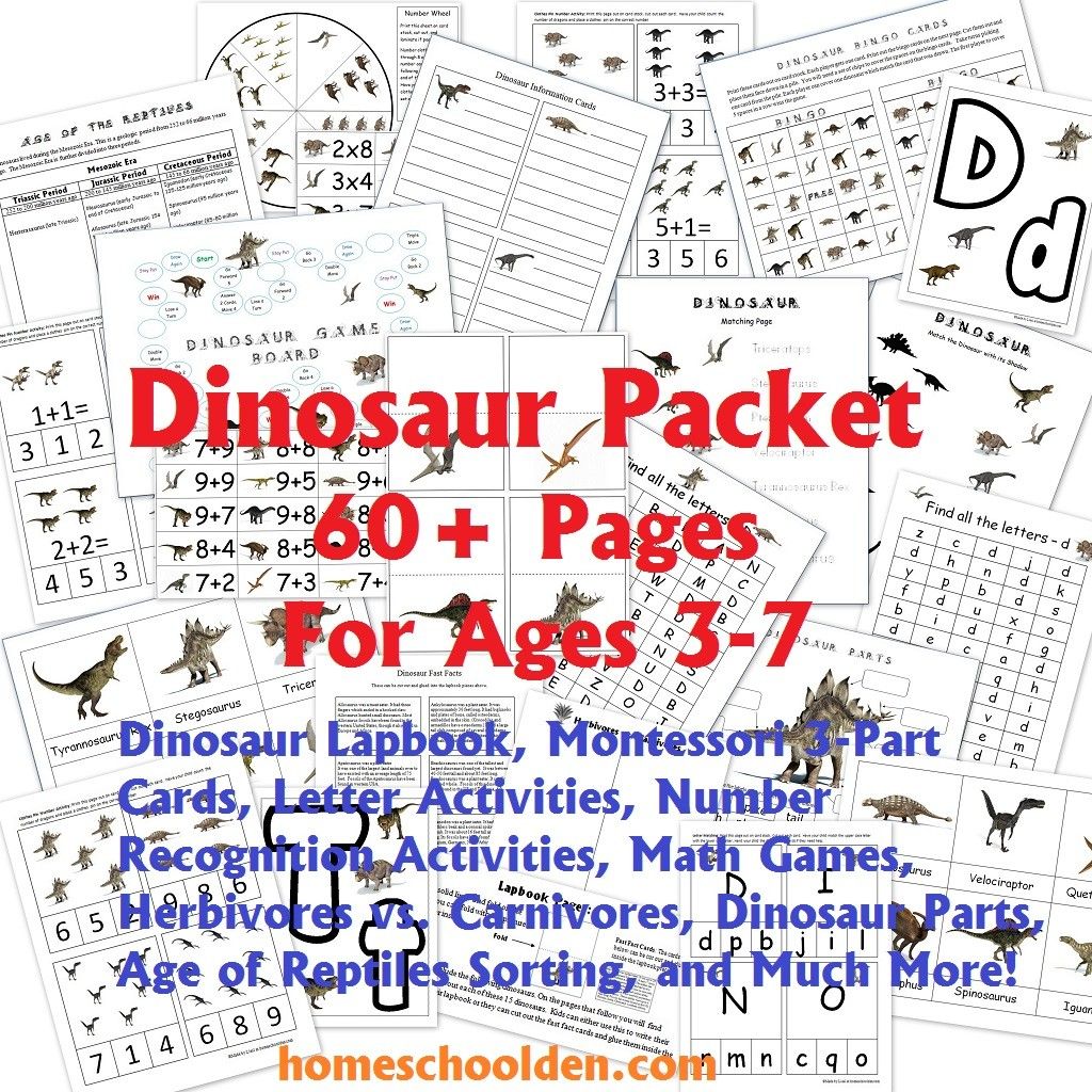Dinosaur Packet For 3 7 Year Olds