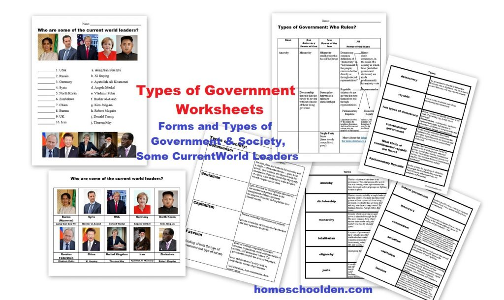 Types Of Governments W Ksheets W Ld Le Ders Currently Free