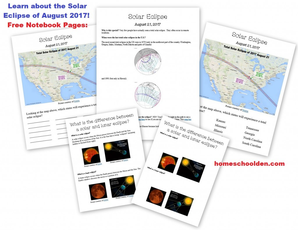 Free Summer Astronomy Packet Solar Eclipse Aug