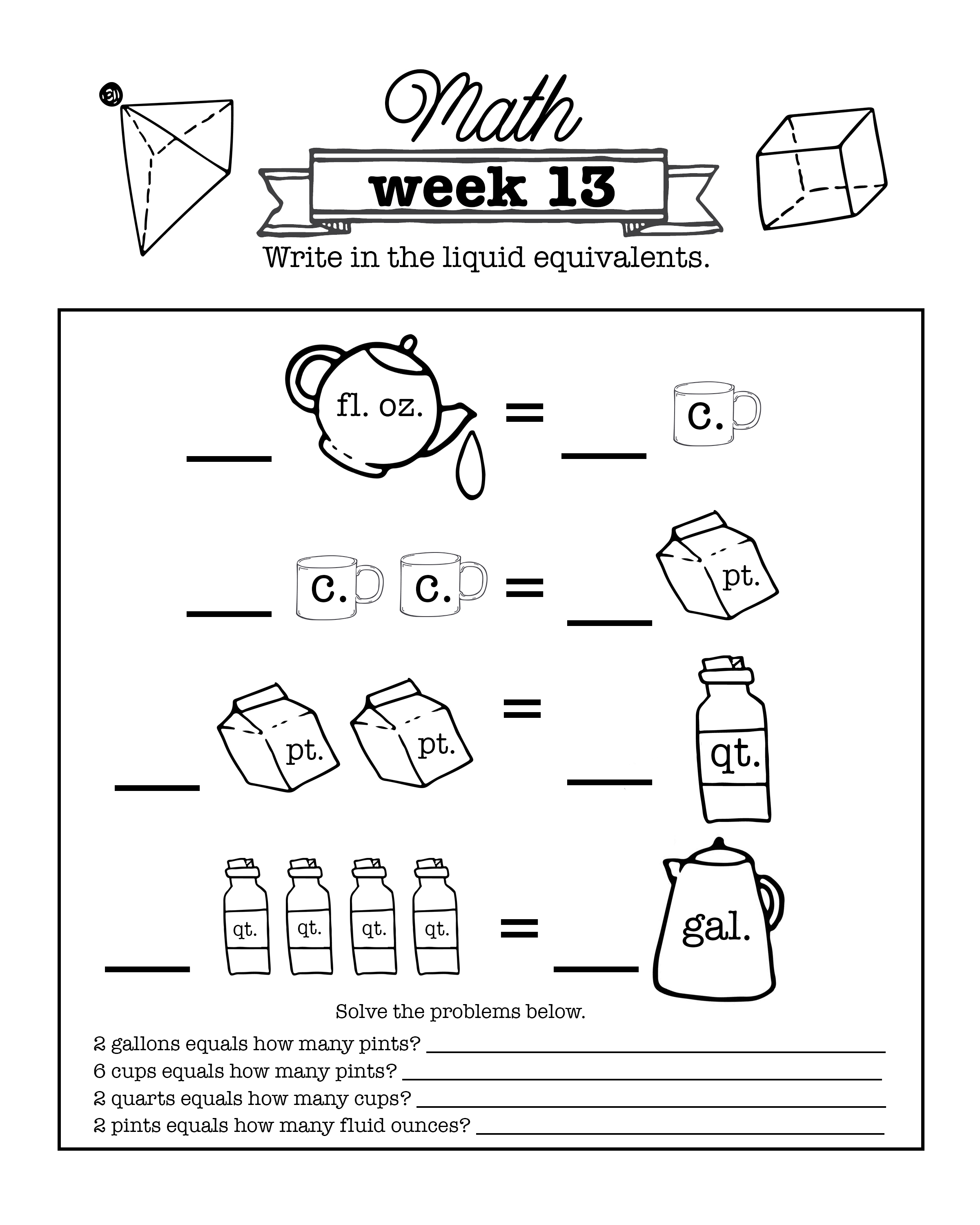 Cycle 1 2 3 4th 5th Edition Math Weeks 1 24 Worksheets Homeschooldownload Com