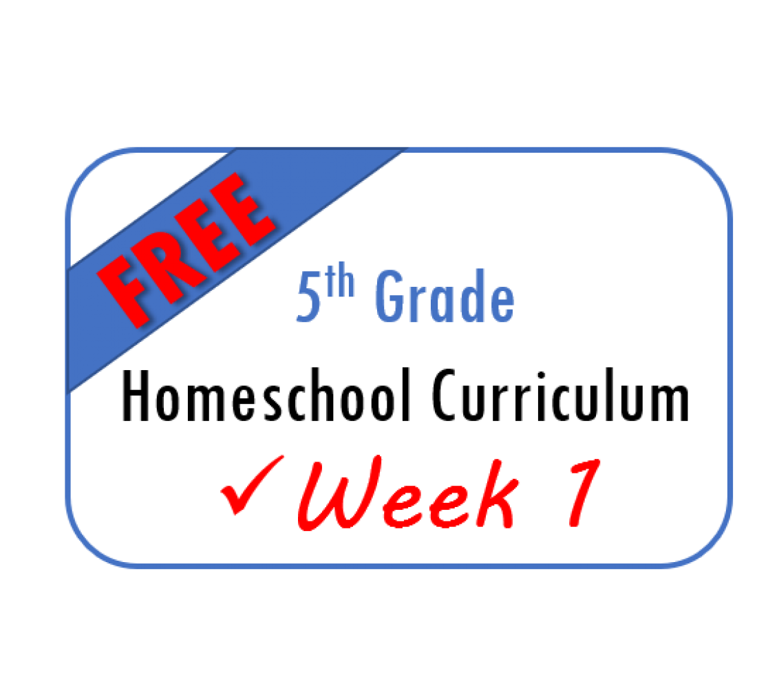 Free Week 1 Homeschool Curriculum 5th Grade From