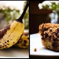 Banana: Before and After (banana coffee cake)
