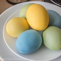 Cabbage and Turmeric Easter Eggs