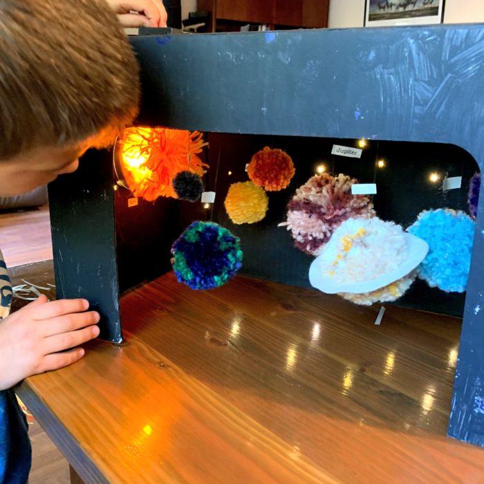 Make Your Own Pom-pom Solar System Diorama