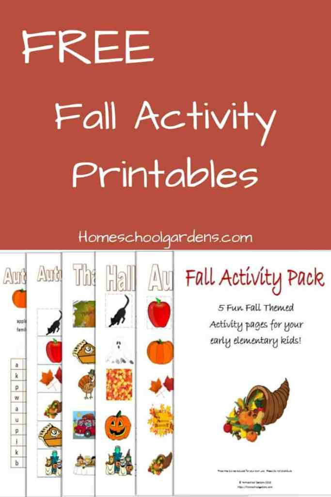 Fall Activity Printables