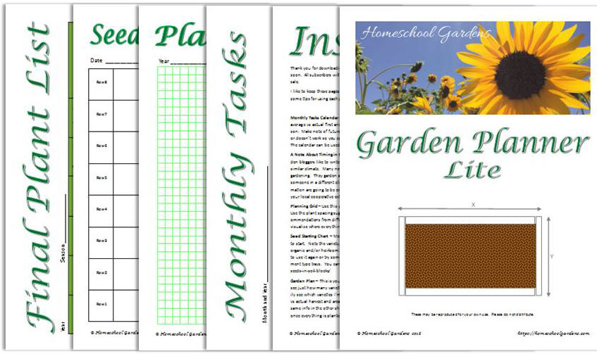 image relating to Printable Garden Planner named Free of charge - Yard Planner Printable - Homeschool Gardens