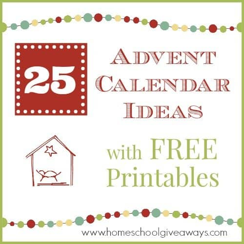 photo about Advent Calendar Printable known as 25 Arrival Calendar Strategies with Totally free Printables - Homeschool