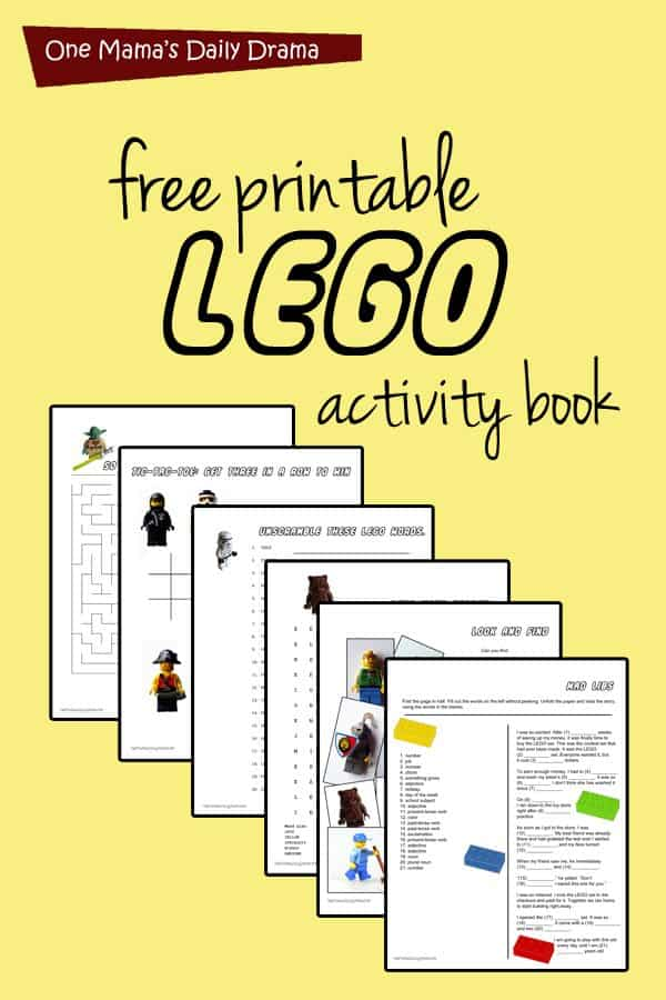 photo regarding Printable Activity Books named Cost-free Printable Lego Sport E-book - Homeschool Giveaways