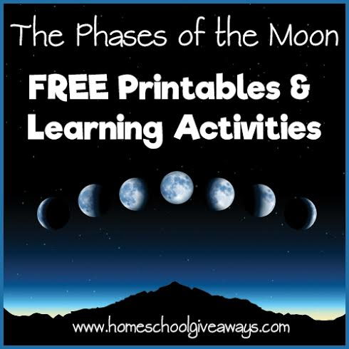 The Phases of the Moon FREE Printables and Learning
