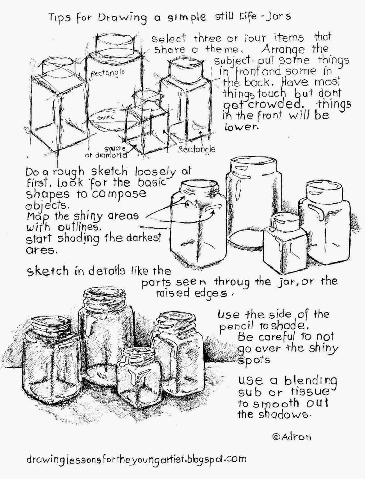 How To Draw A Still Life With Free Printable Worksheet