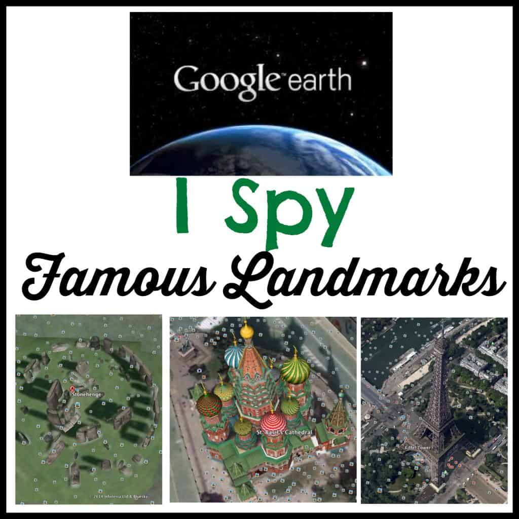 I Spy Famous Landmarks With Earth Free Printables