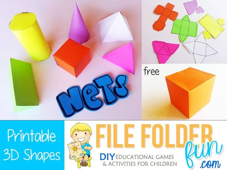 photograph relating to Printable Nets referred to as Totally free Printable 3D Condition Nets - Homeschool Giveaways