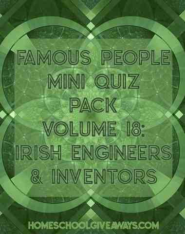 FREE Famous People Mini Quiz Pack Vol. 18 – Irish Engineers and Inventors