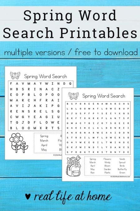image relating to Printable Spring Word Searches titled Free of charge Printable Spring Phrase Glance Mounted for Small children - Homeschool