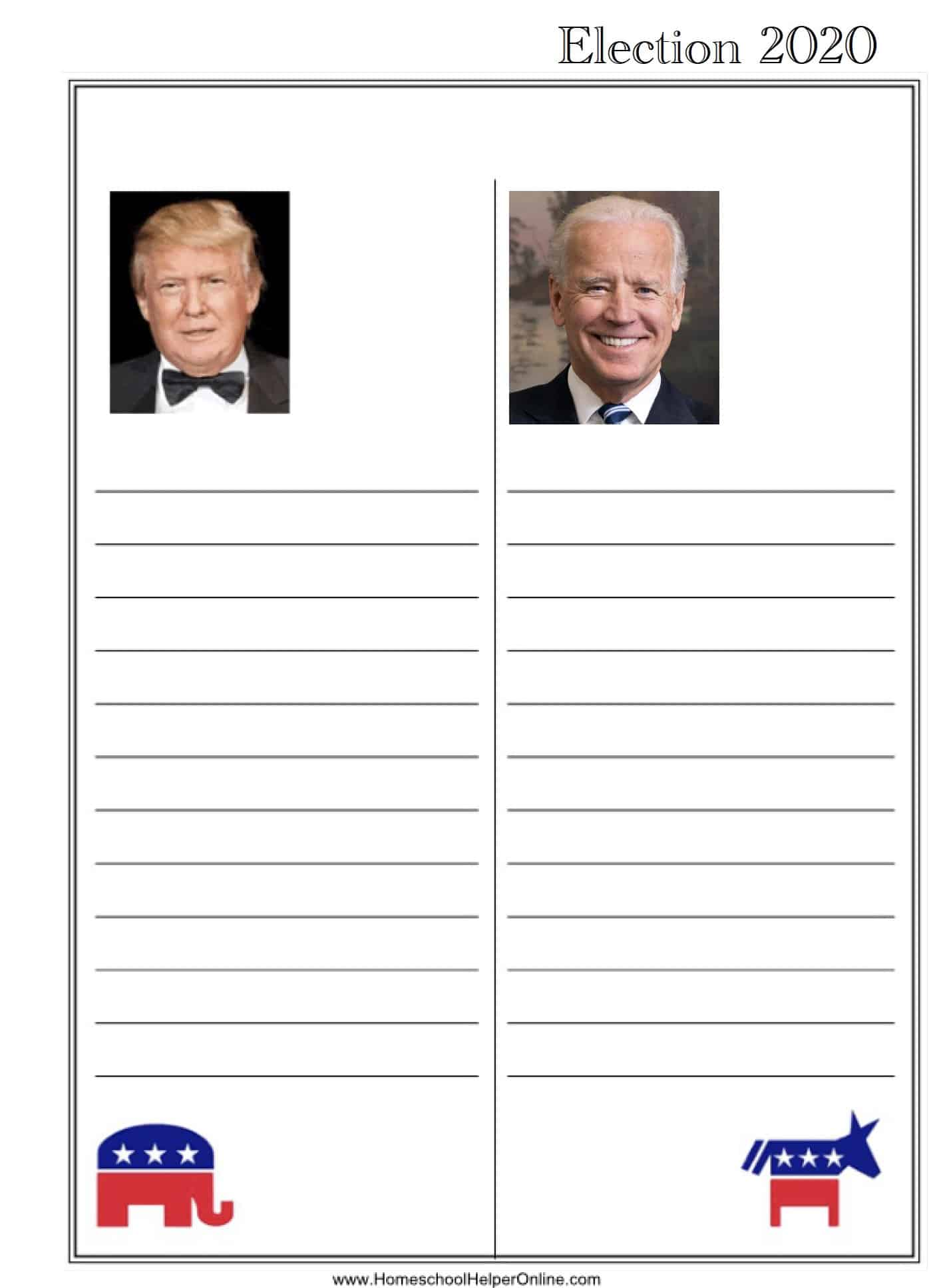 Election Notebooking Page
