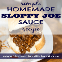 Simple Homemade Sloppy Joe Sauce Recipe