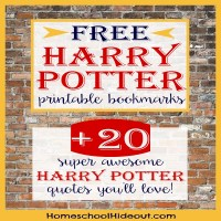 Printable Harry Potter Bookmark