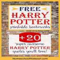 Printable Harry Potter Bookmark