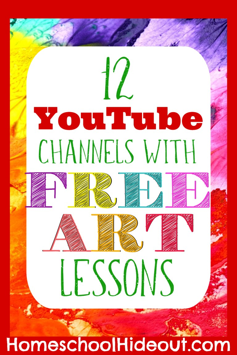 12 Art Lessons on YouTube Your Kiddos will Love! - Homeschool Hideout