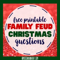 Free Printable Family Feud Christmas Questions